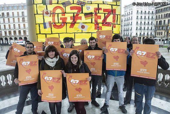 G7koen asmoen aurka bat eginda